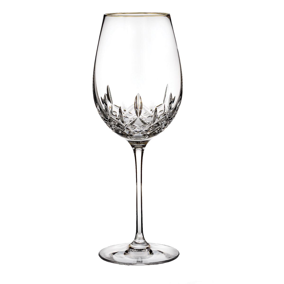 Waterford Crystal, Lismore Essence Gold Crystal Goblet, Single