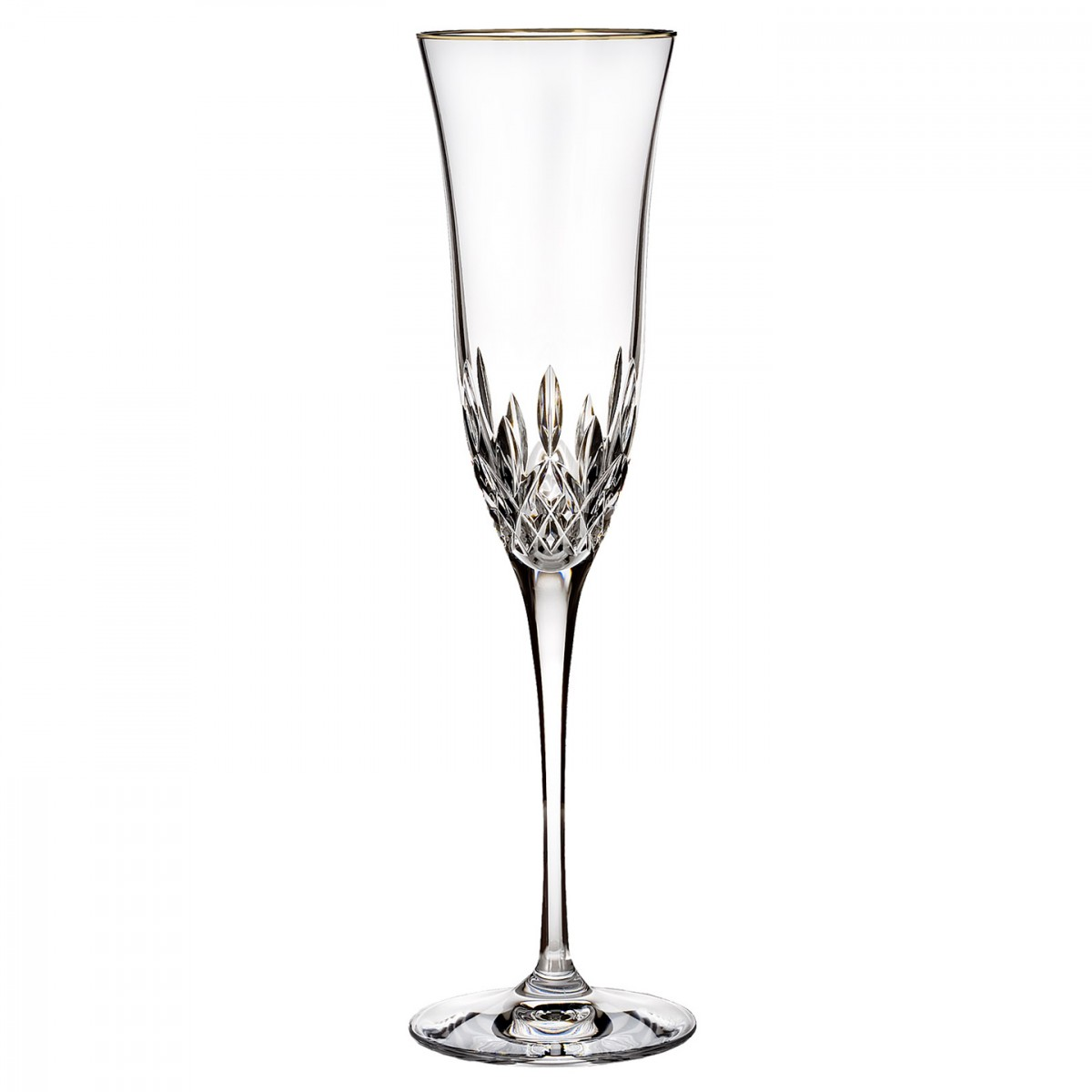 Waterford Crystal, Lismore Essence Gold Champagne Crystal Flute, Single