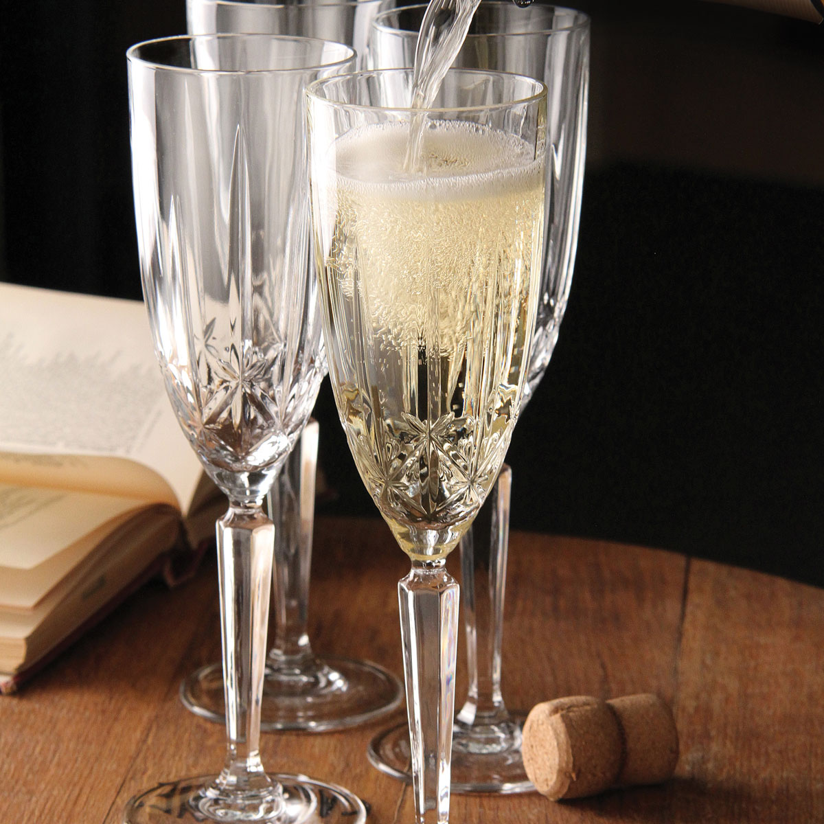 Marquis by Waterford, Sparkle Flutes, Set of Four