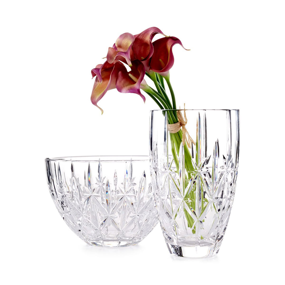"""Marquis by Waterford Crystal, Sparkle 9"""" Crystal Vase"""