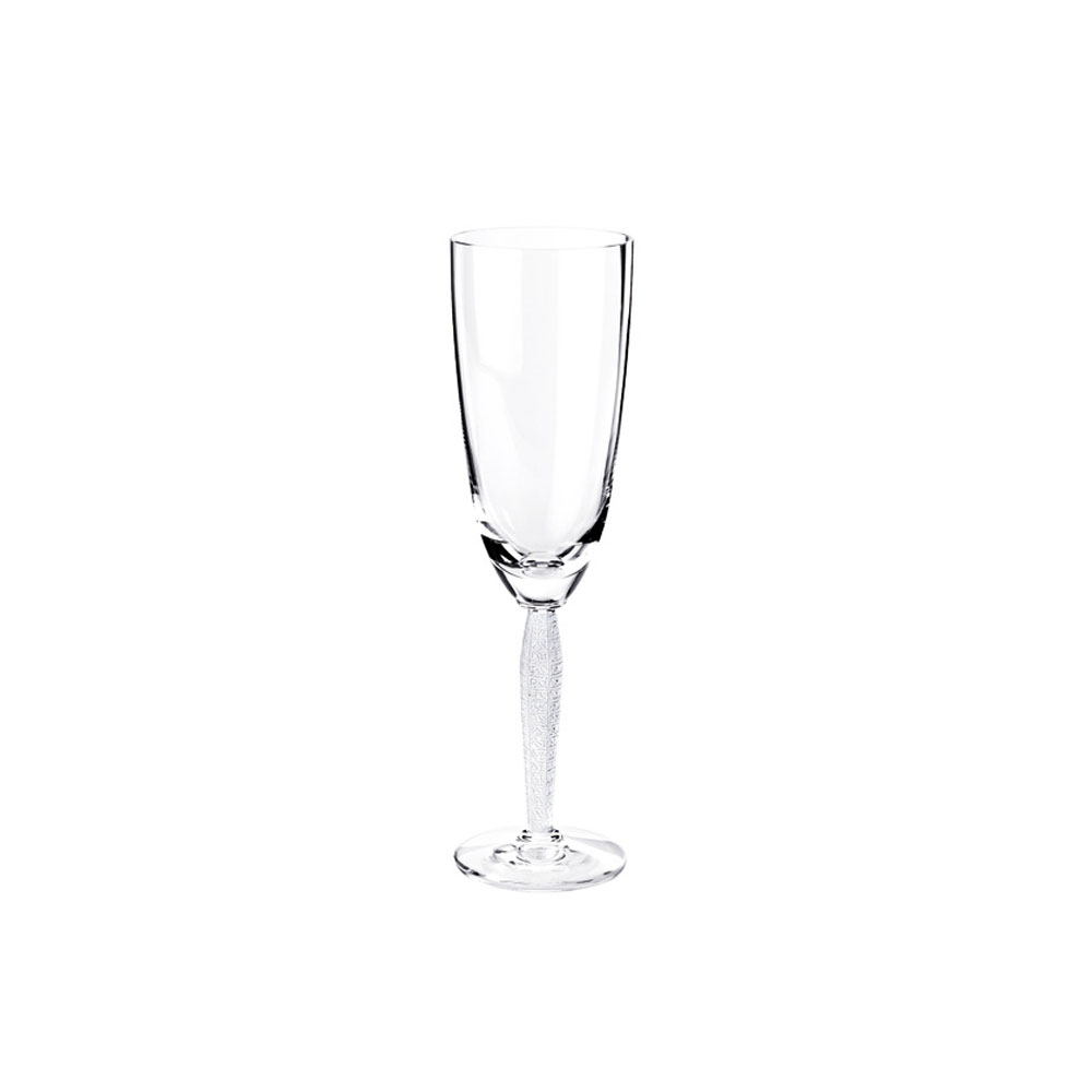 Lalique Louvre Champagne Crystal Flute, Single