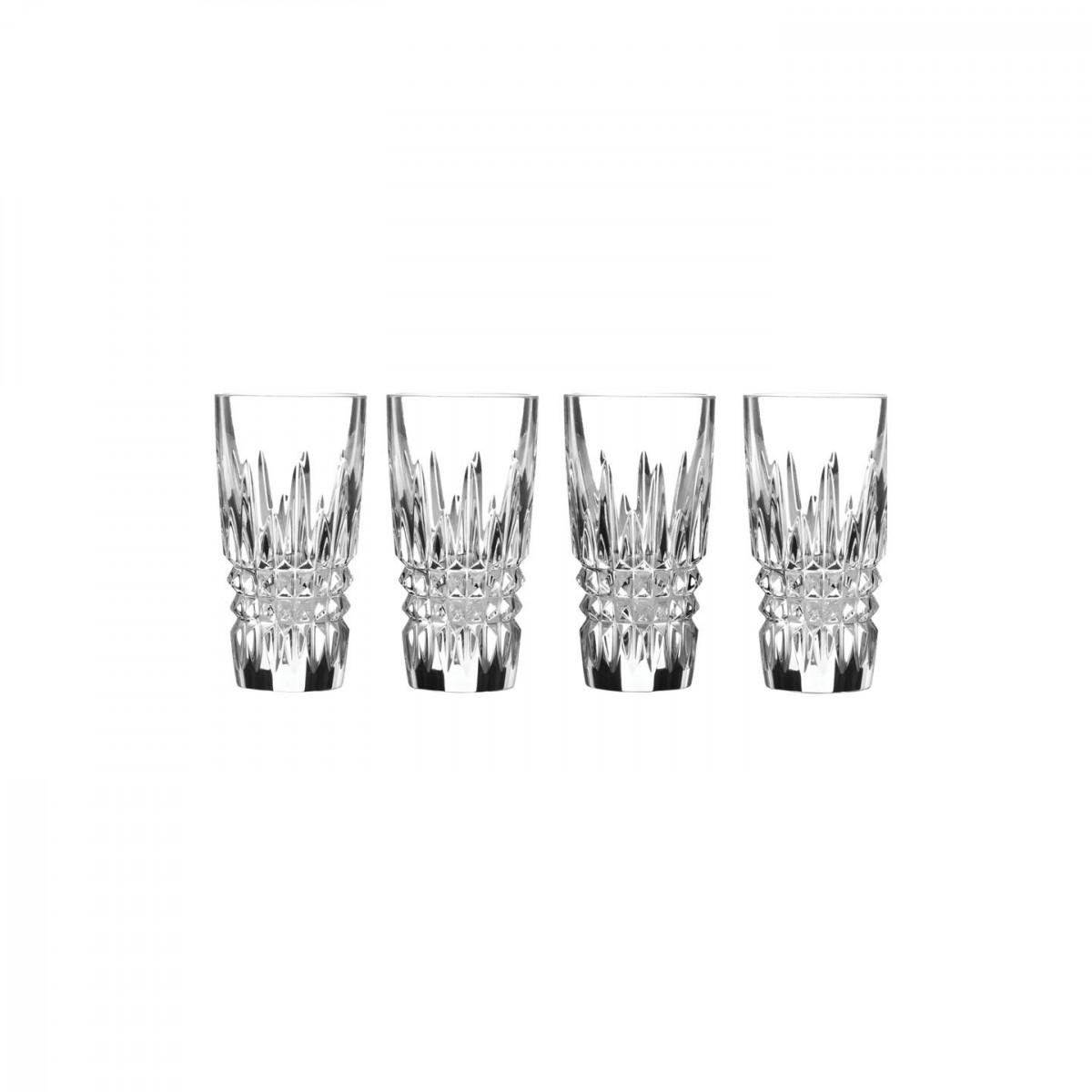 Waterford Crystal, Lismore Diamond Vodka Shot Crystal Glasses, Set of Four