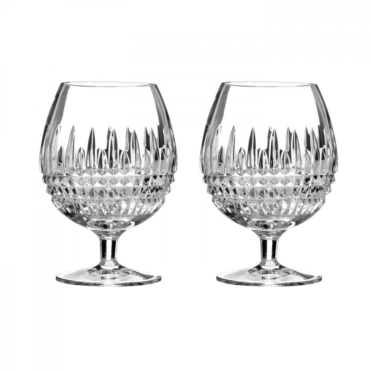 Waterford Crystal, Lismore Diamond Crystal Brandy, Pair