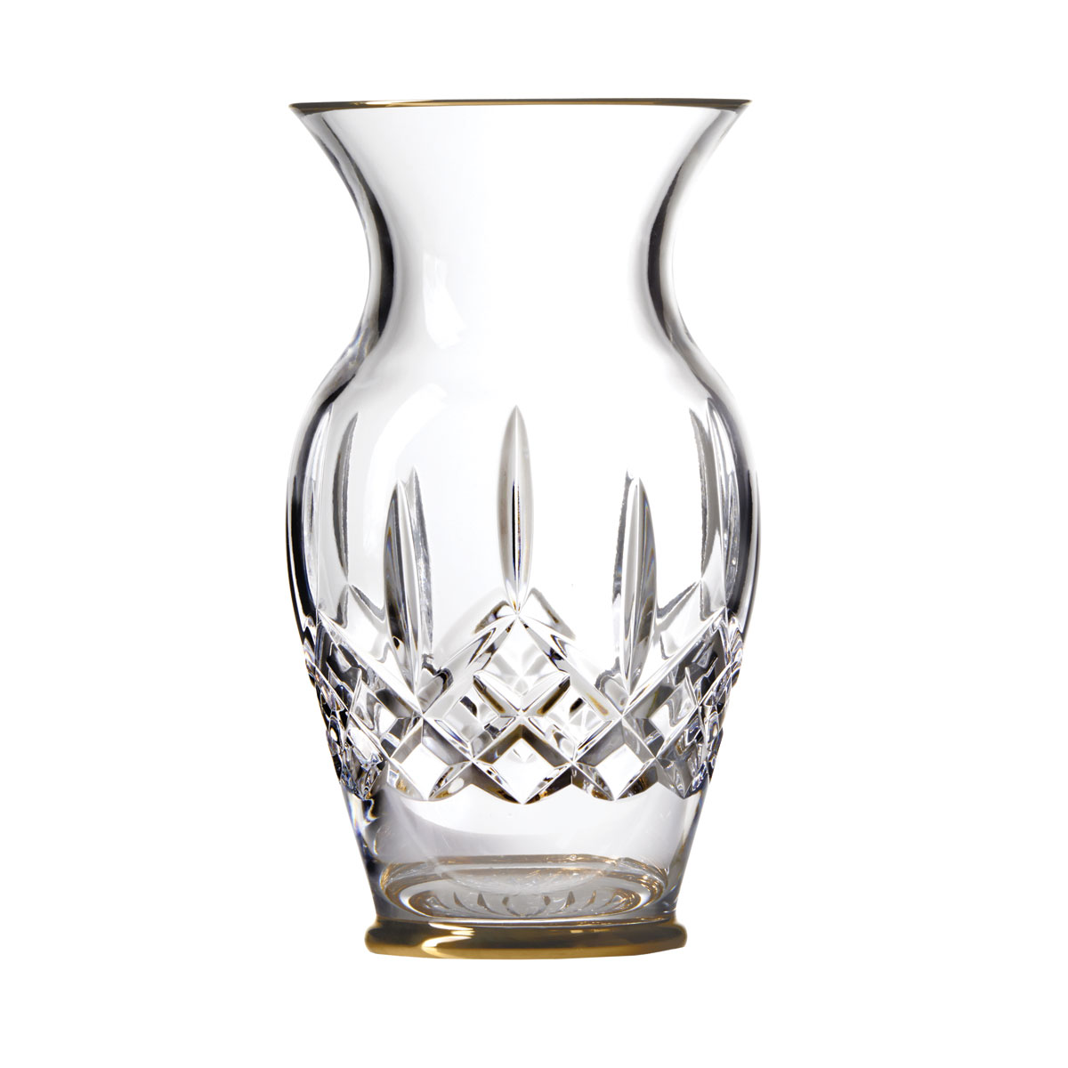 "Waterford Crystal, Lismore Gold 8"" Bouquet Vase"