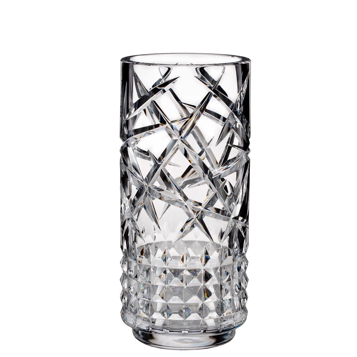 "Waterford Crystal, Jeff Leatham Fleurology Tina 12"" Crystal Vase"