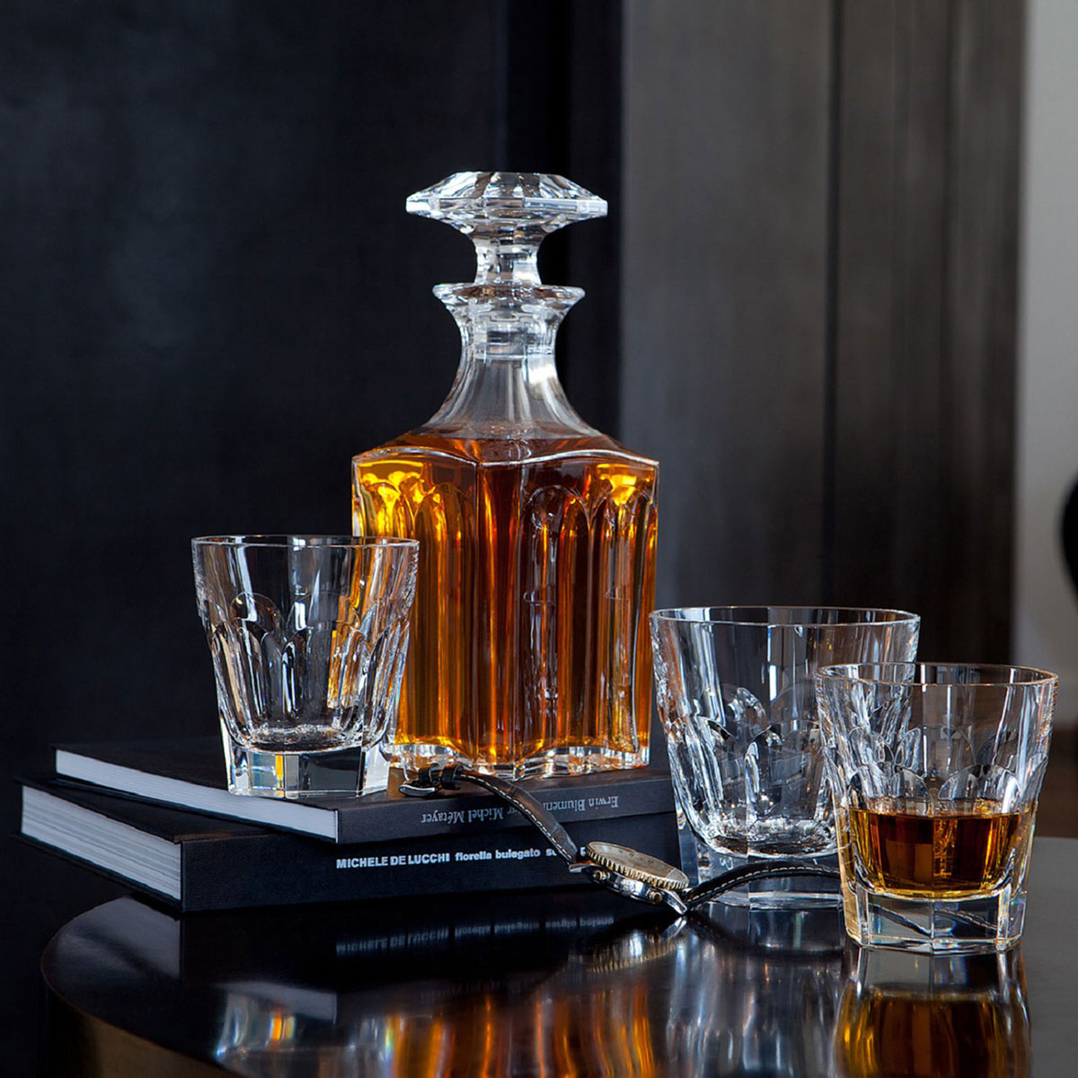 Baccarat Crystal, Harcourt Square Whiskey Crystal Decanter