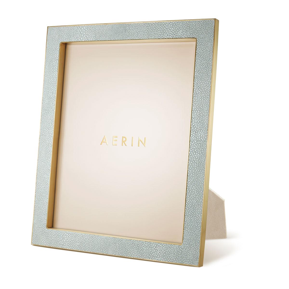 "Aerin Classic Shagreen Frame, Mist 8x10"""