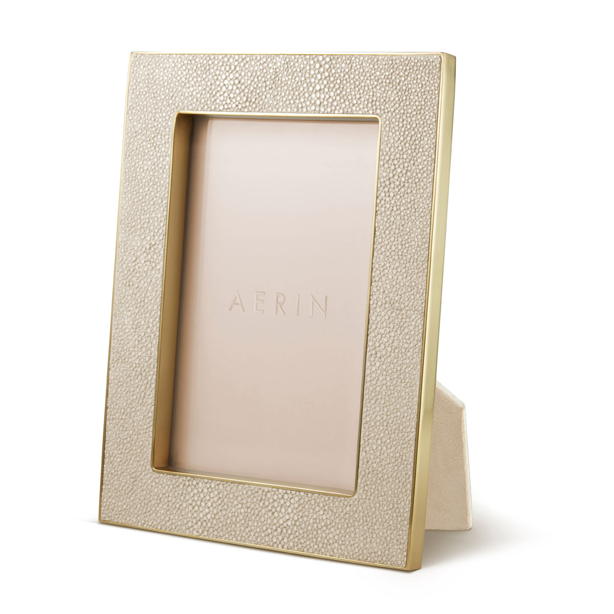 "Aerin Classic Shagreen Frame, Wheat 4x6"""