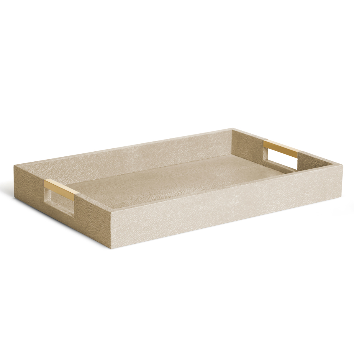 Aerin Modern Shagreen Desk Tray, Wheat
