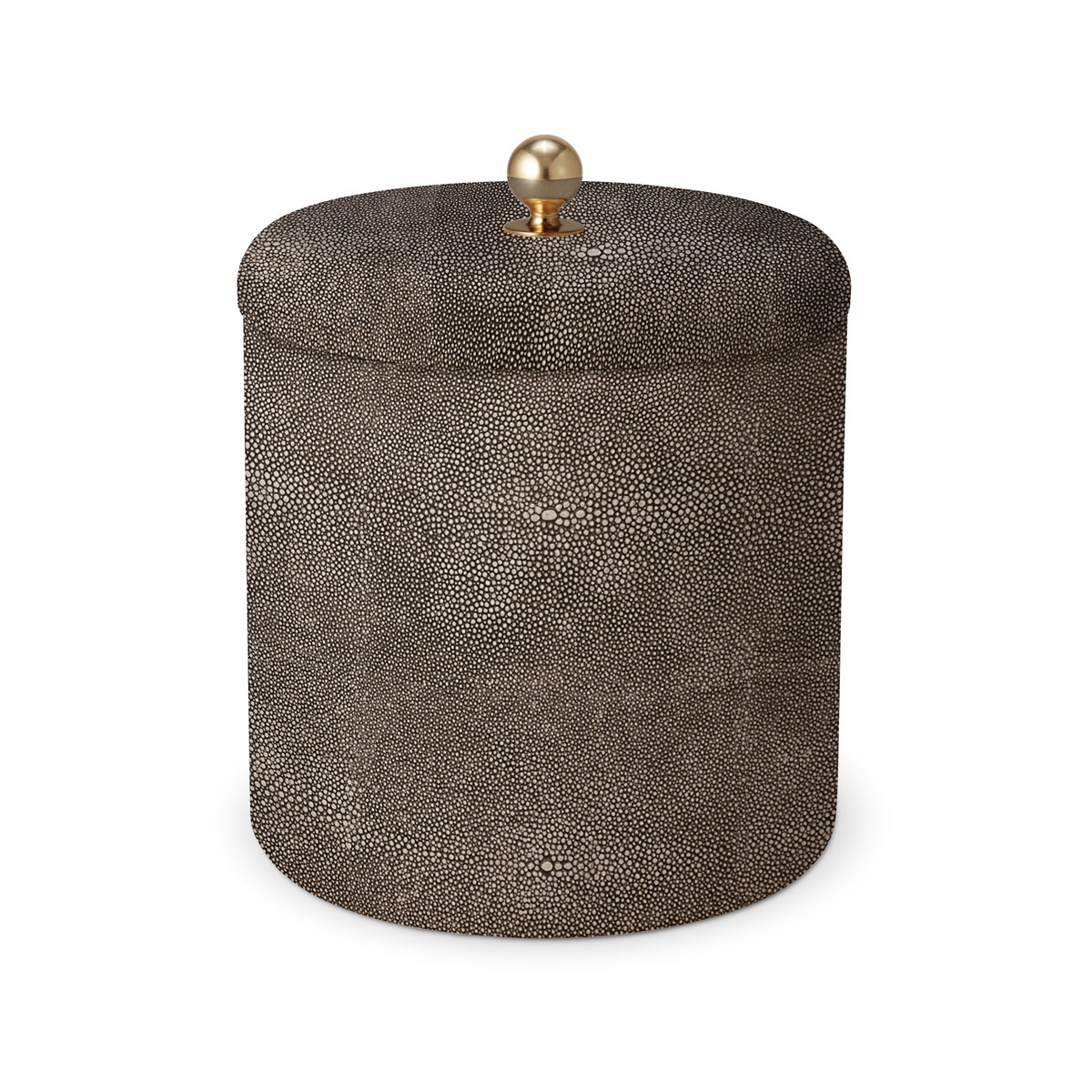 Aerin Shagreen Ice Bucket, Chocolate