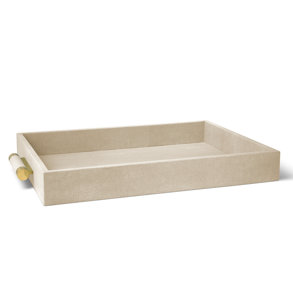 Aerin Classic Shagreen Serving Tray, Wheat