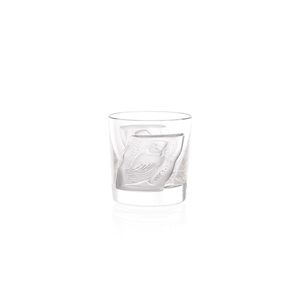 Lalique Crystal, Owl Crystal Cordial Tumblers, Pair