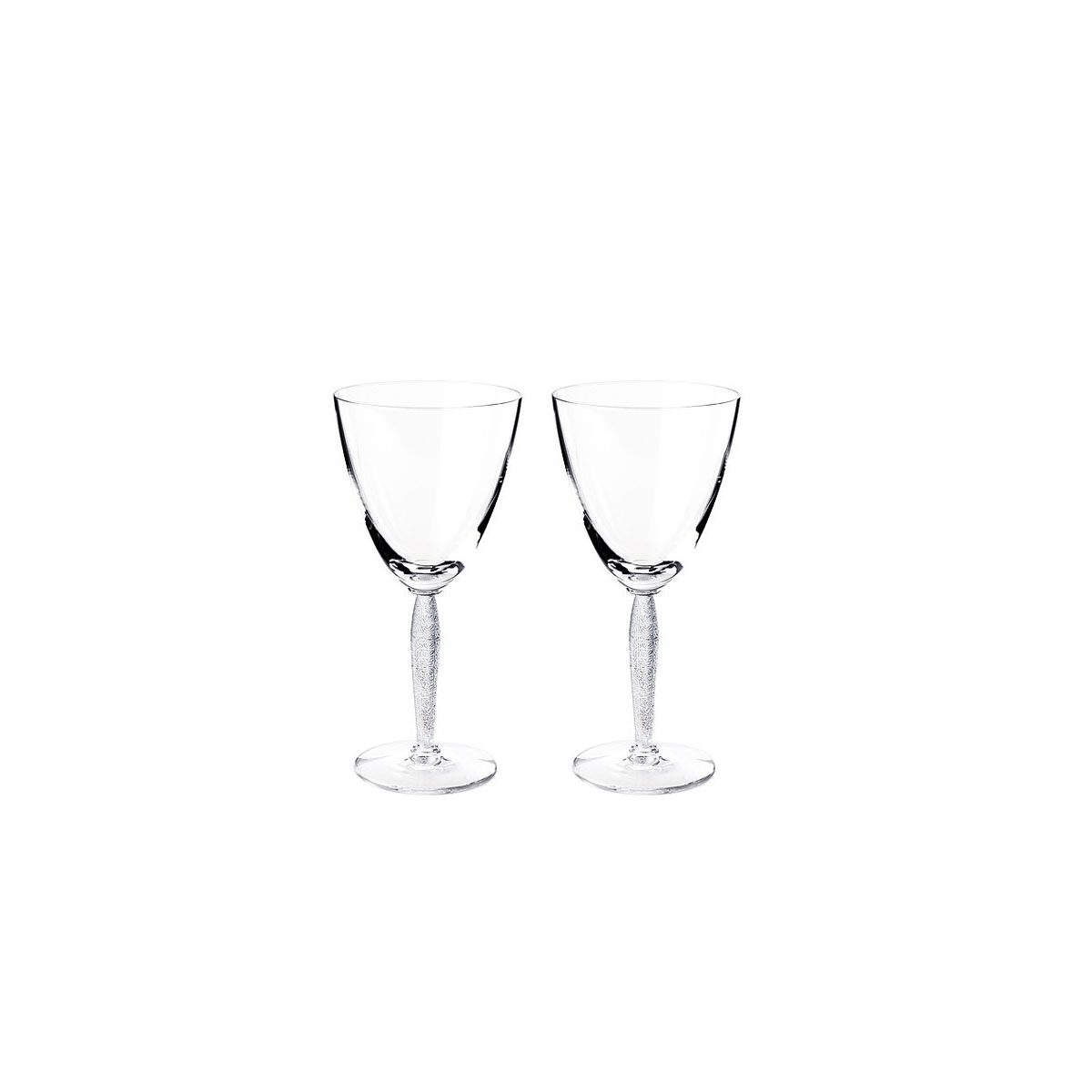 Lalique Crystal, Louvre Water Crystal Glasses, Pair