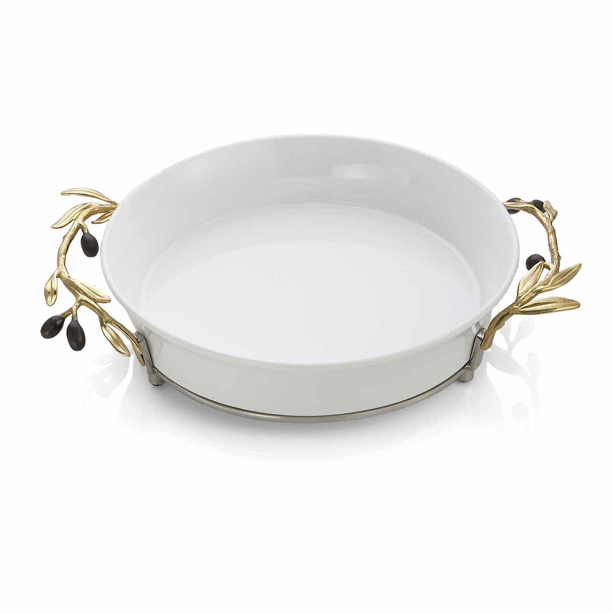 Michael Aram Olive Branch Gold Pie Dish