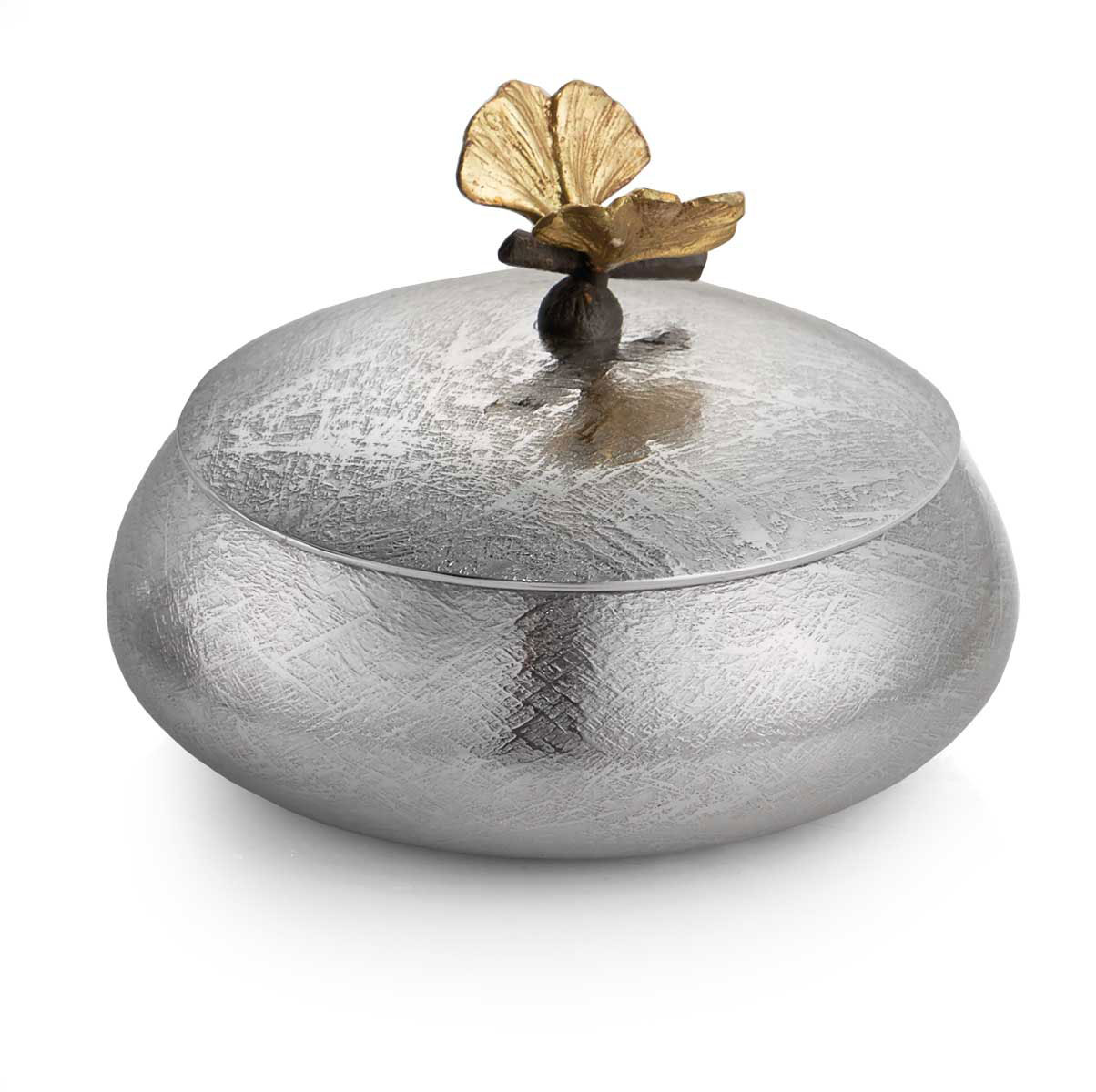 Michael Aram Butterfly Ginkgo Round Trinket Box