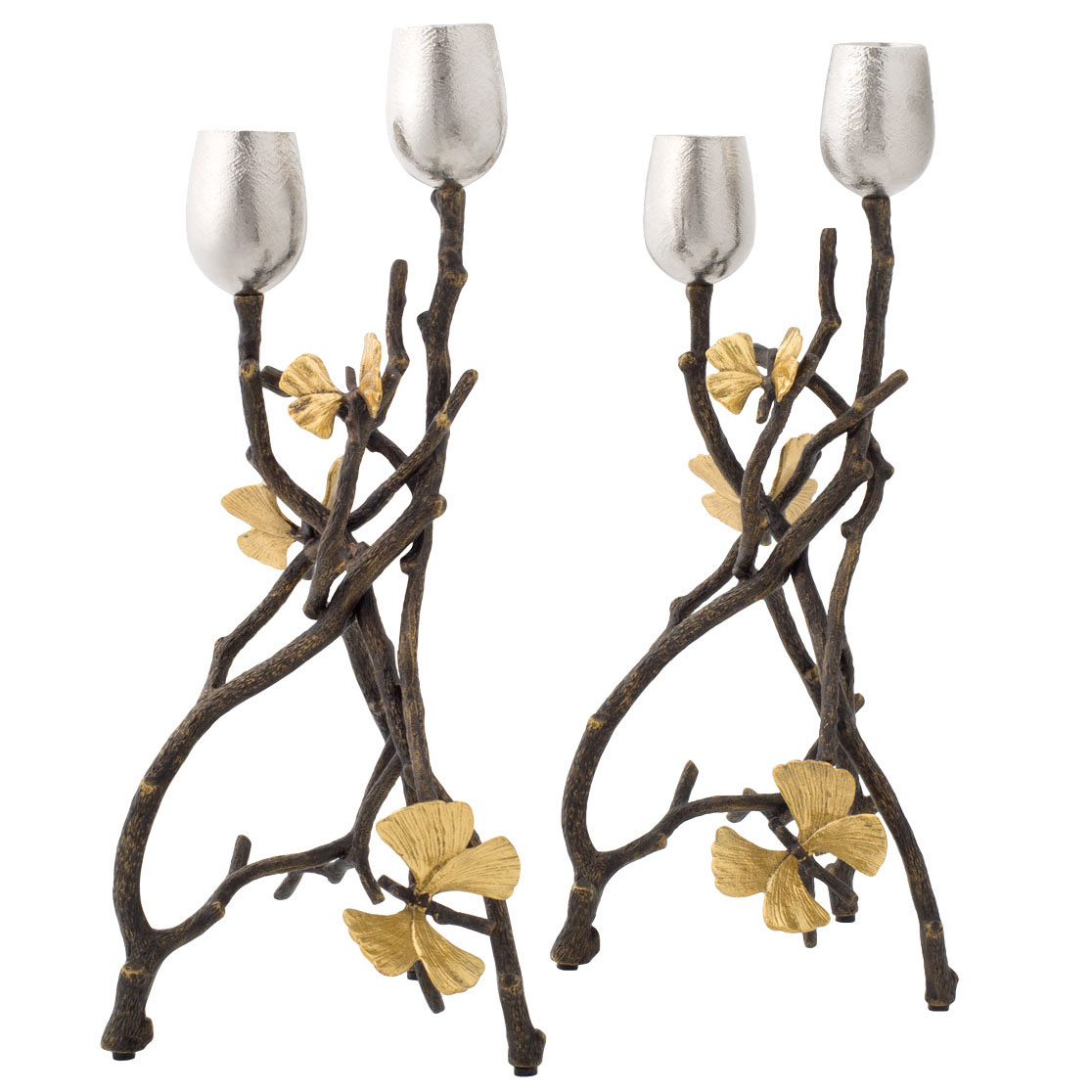 Michael Aram Butterfly Ginkgo Candleholders Set of 2