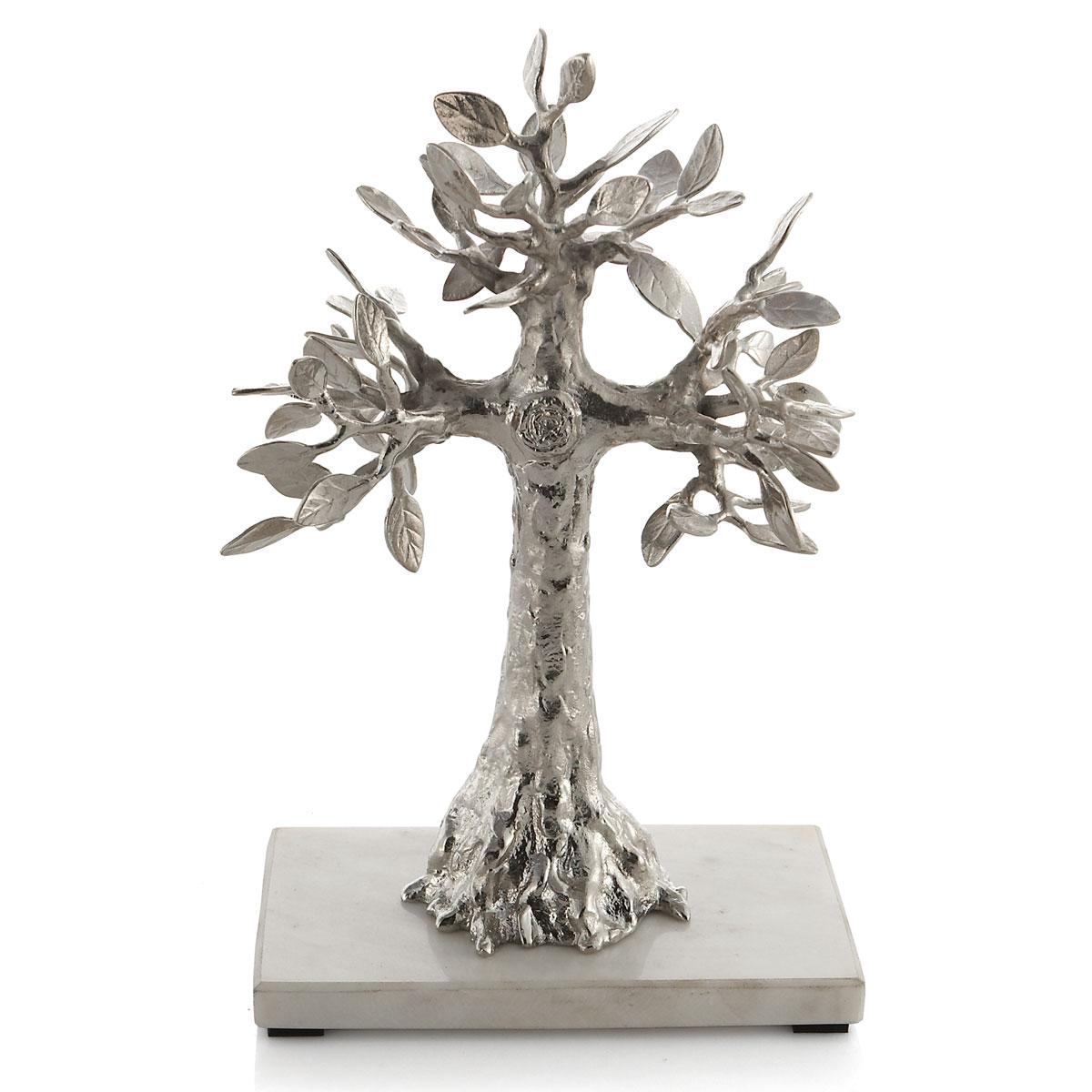Michael Aram Foliated Cross Sculpture Nickel