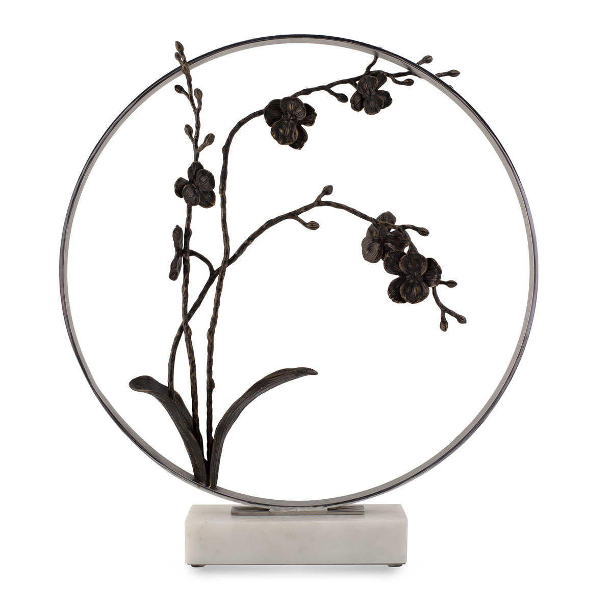 "Michael Aram Black Orchid 22"" Moon Gate Sculpture, Limited Edition"