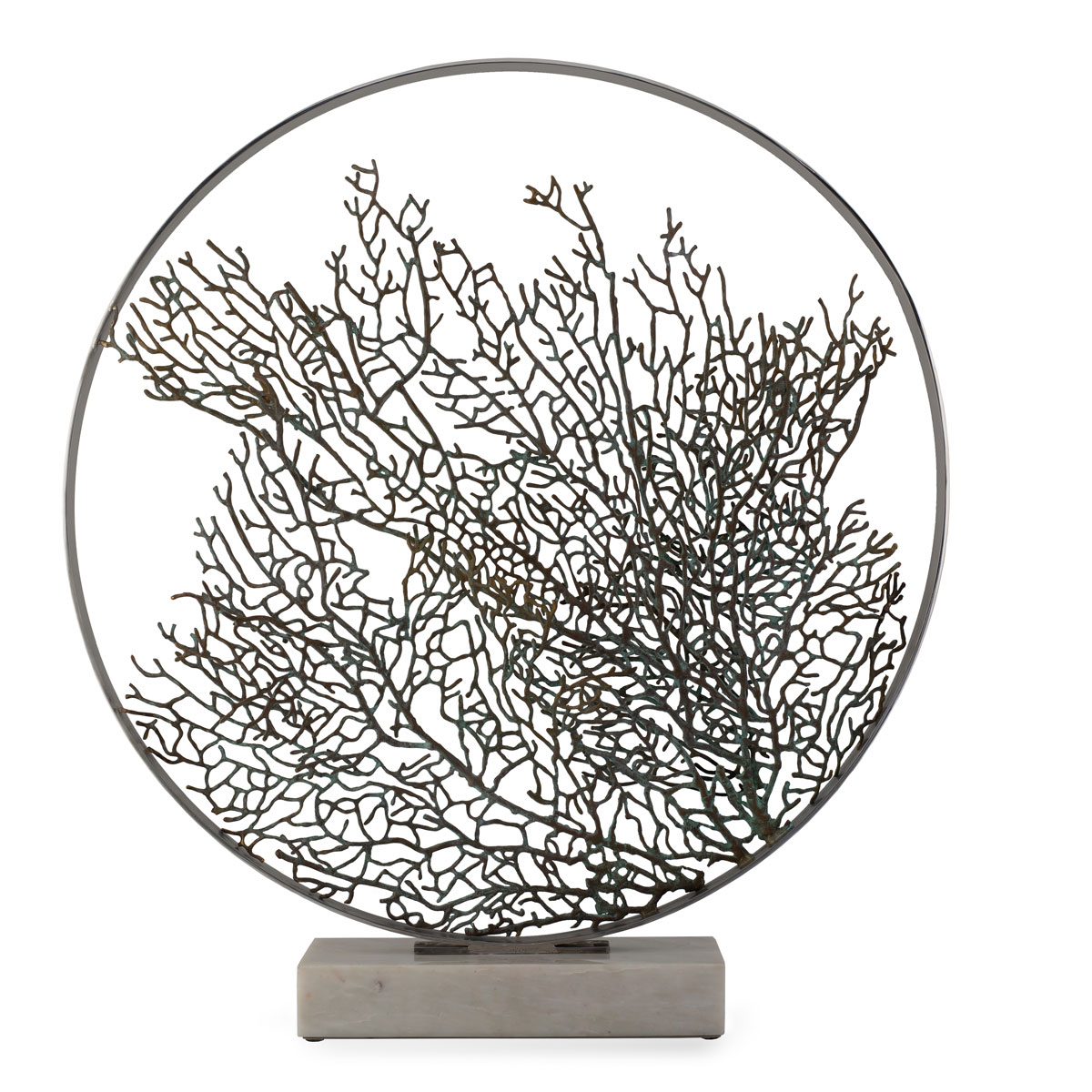 "Michael Aram Fan Coral 32"" Moon Gate Sculpture, Limited Edition"