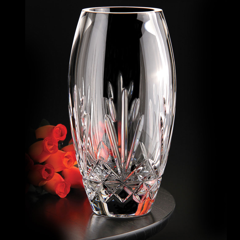"Cashs Ireland, Annestown 10"" Rose Crystal Vase"