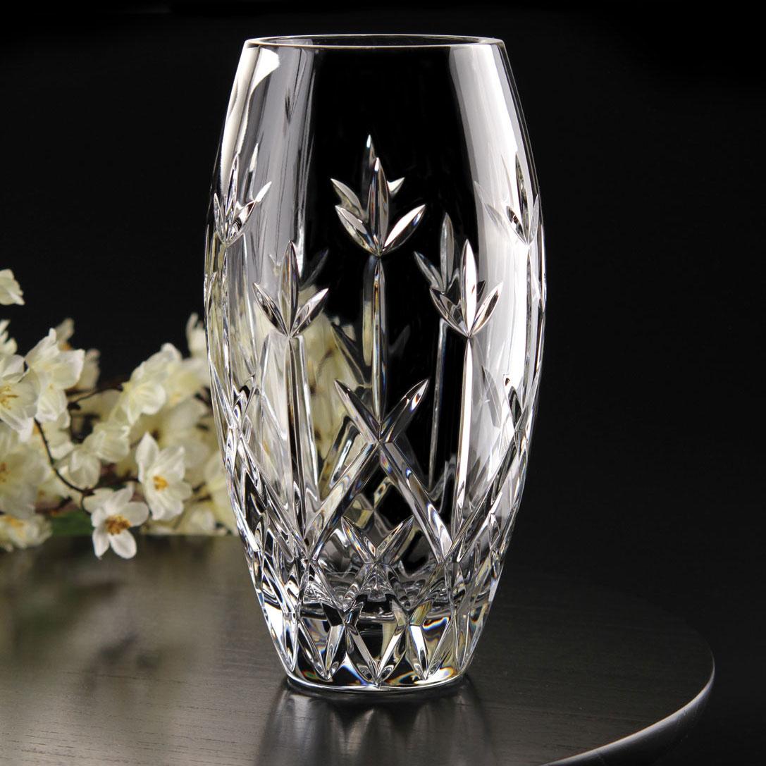 """Cashs Ireland, Hawthorne Fairy 10"""" Rose Crystal Vase"""