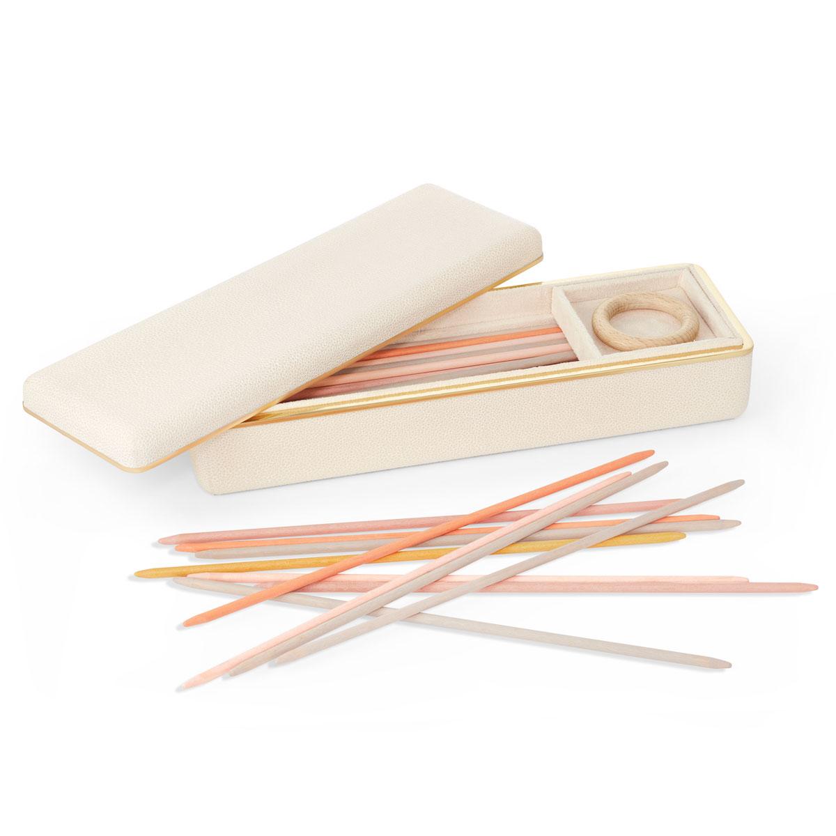 Aerin Small Shagreen Pick Up Sticks, Cream