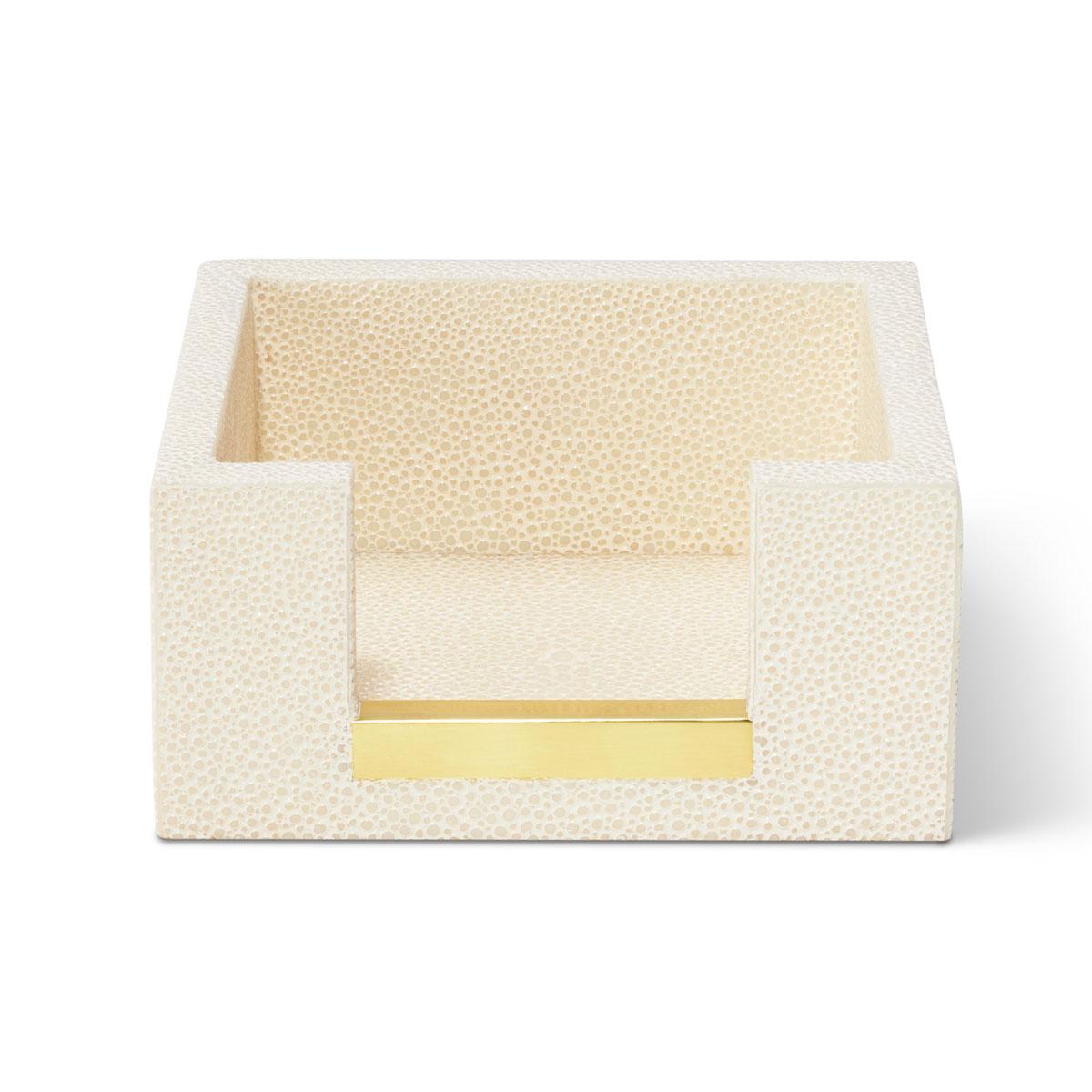 Aerin Shagreen Memo Paper Holder, Cream