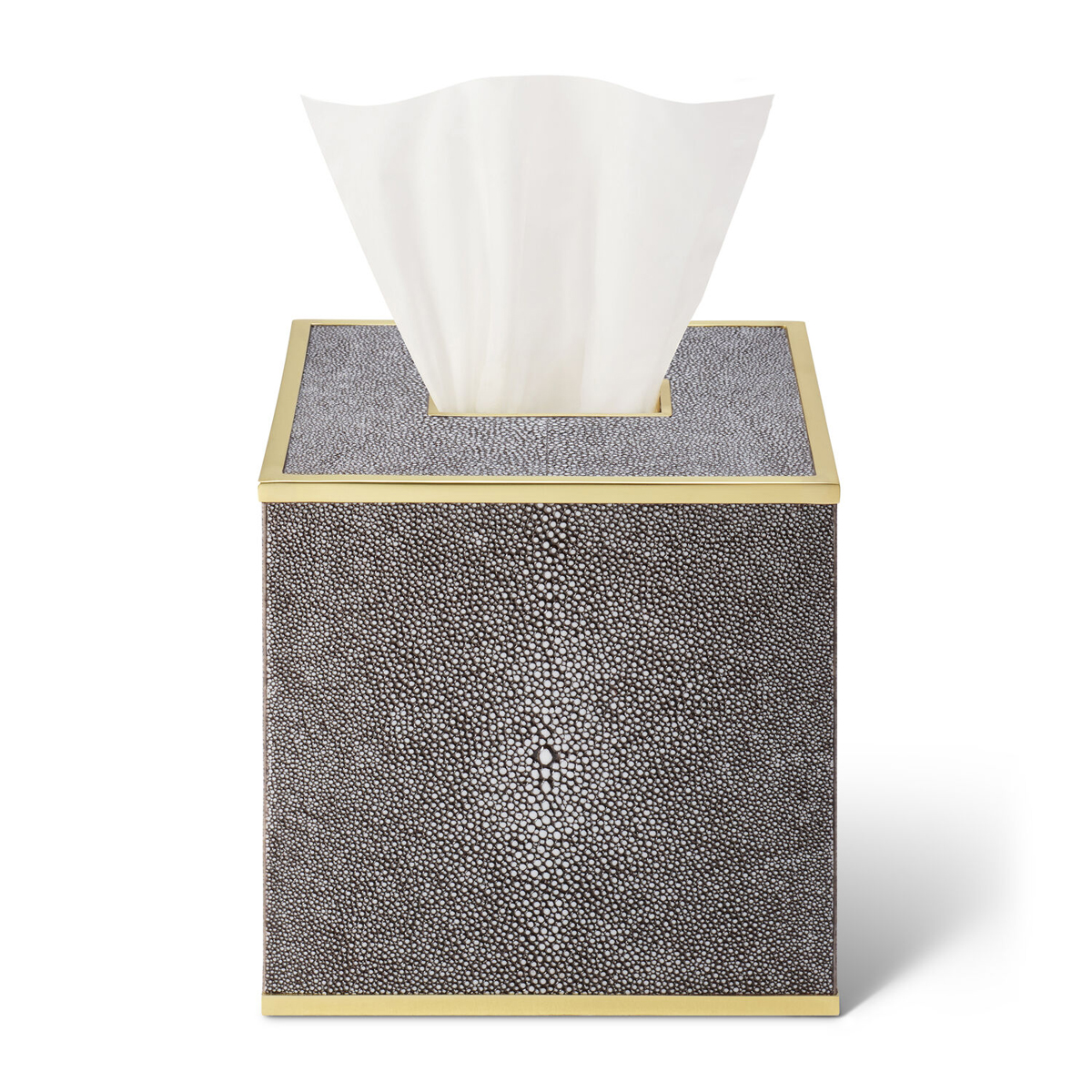 Aerin Classic Shagreen Tissue Box Cover, Chocolate