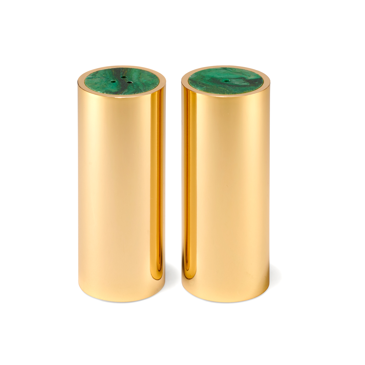 Aerin Lucas Salt and Pepper Shakers, Jade