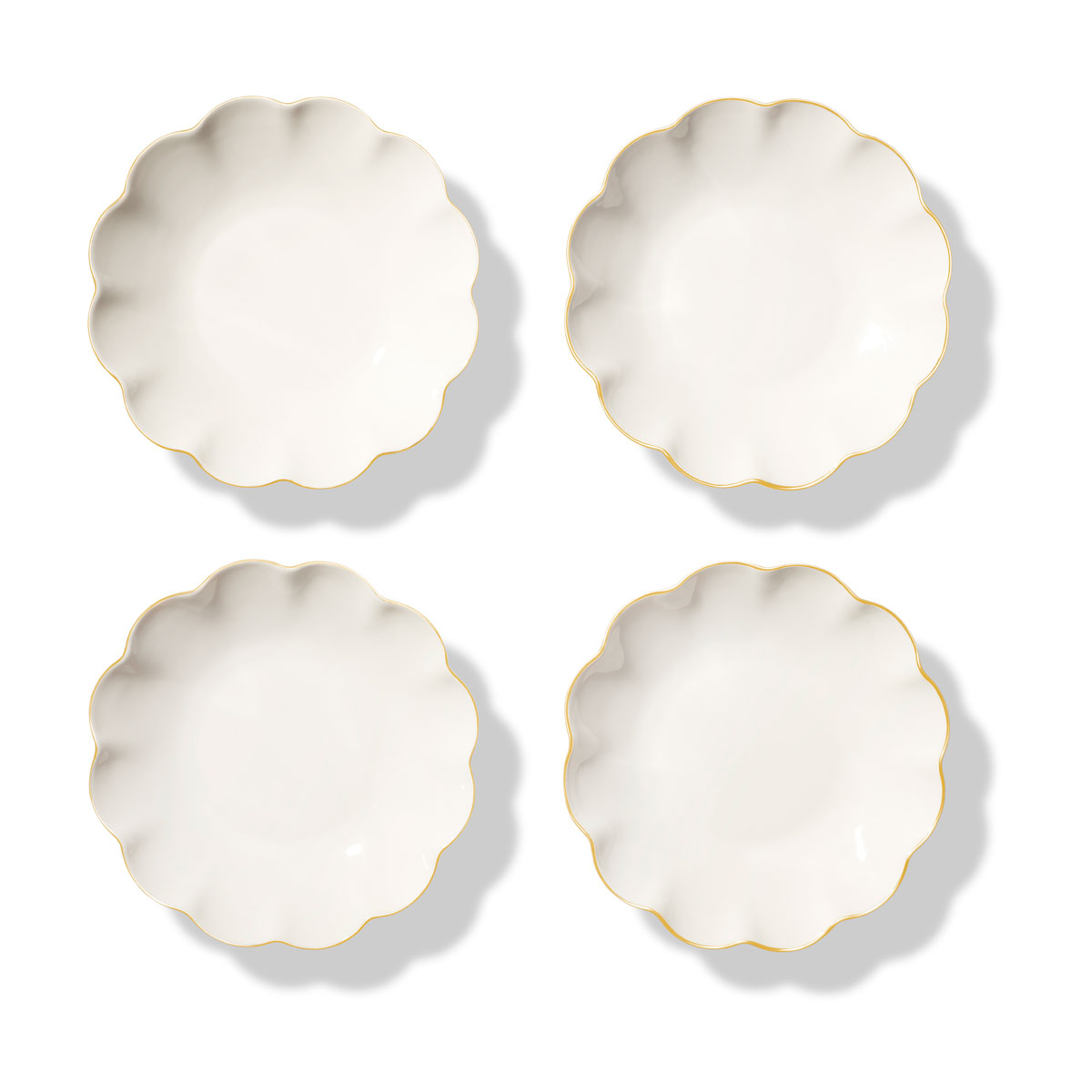 Aerin Scalloped Appetizer Plates Set of Four