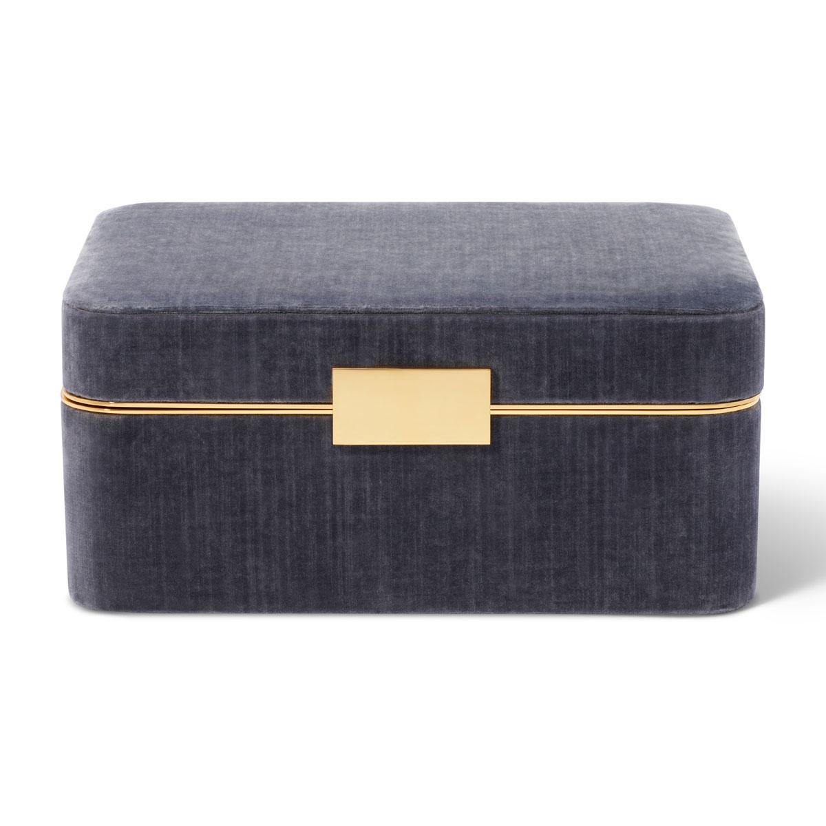 Aerin Beauvais Velvet Jewelry Box, Dusk Blue