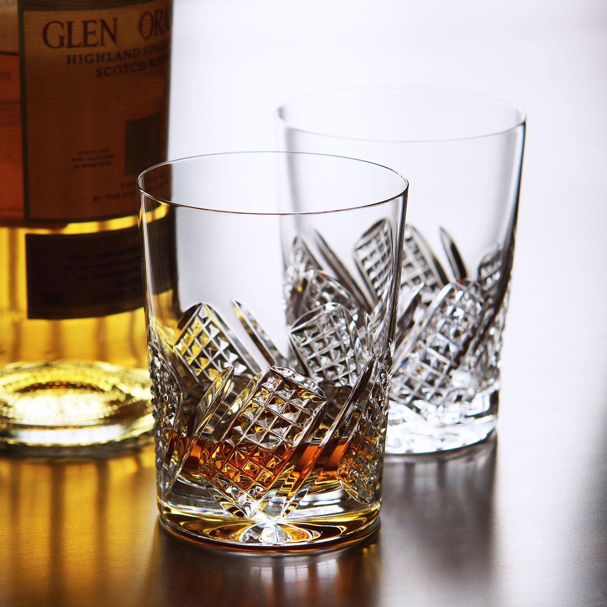 Cashs Ireland, Crystal Harvester Single Malt Whiskey Glasses, Pair