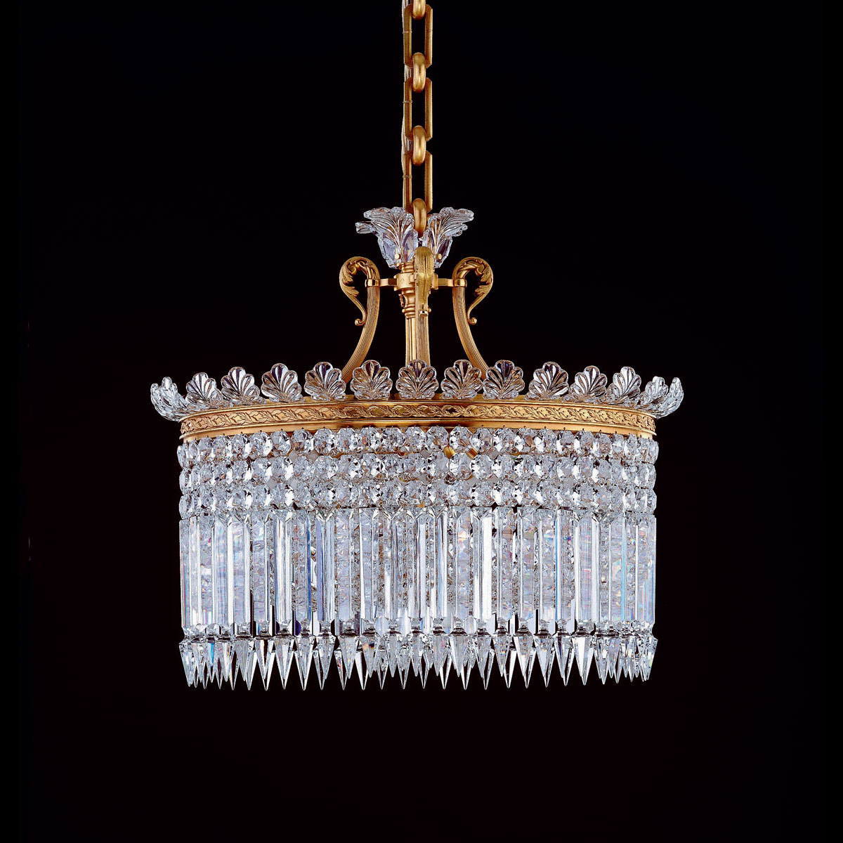 Baccarat Crystal Crinoline Chandelier, 13 Light