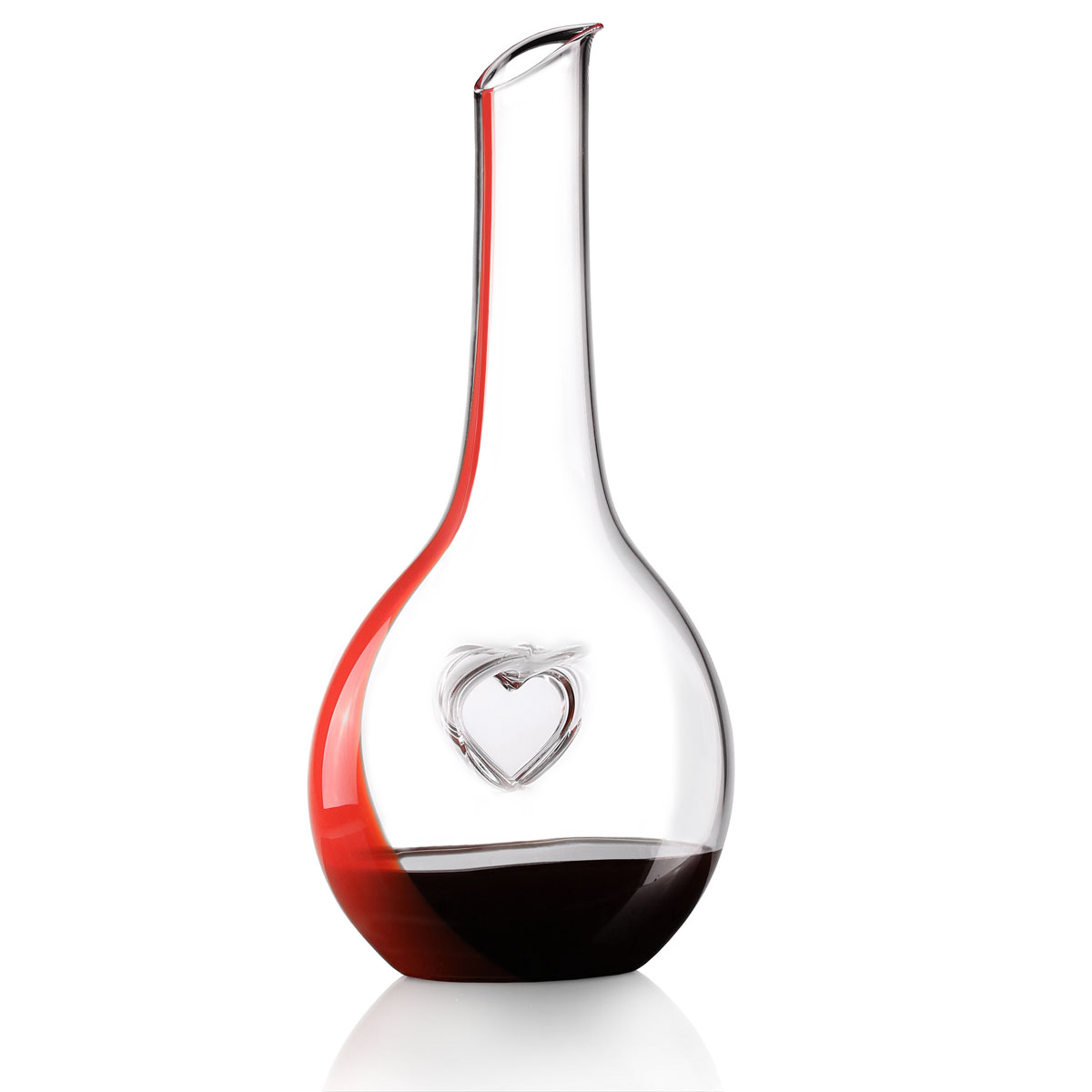 Riedel Fatto A Mano, Lipstick Red Bliss Wine Decanter, Limited Edition