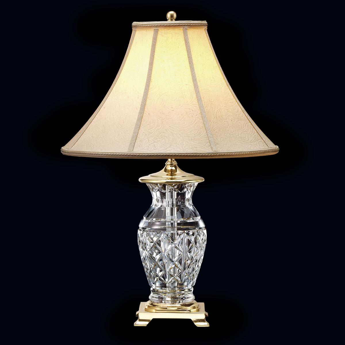 """Waterford Crystal, Kingsley 22"""" Crystal Lamp"""