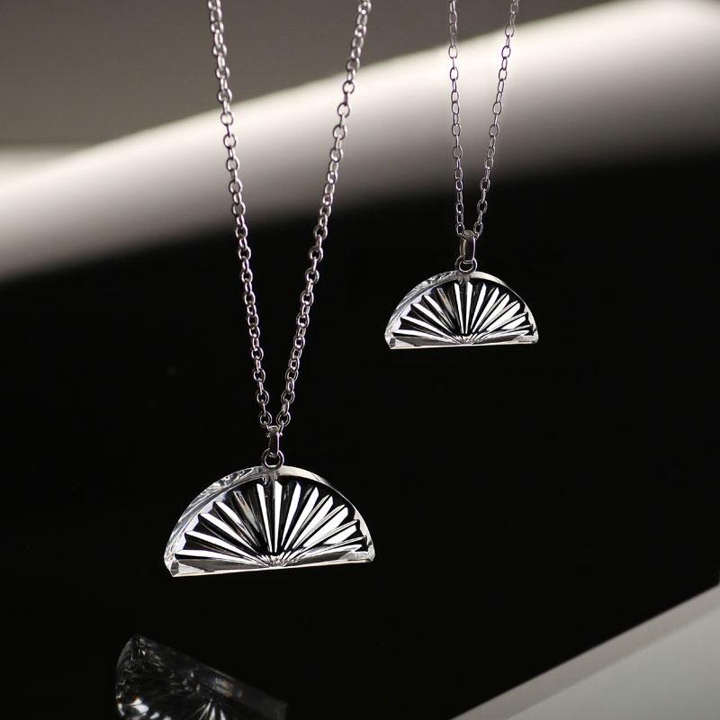 Cashs Ireland, Crystal Irish Sunset Pendant Necklace, Medium