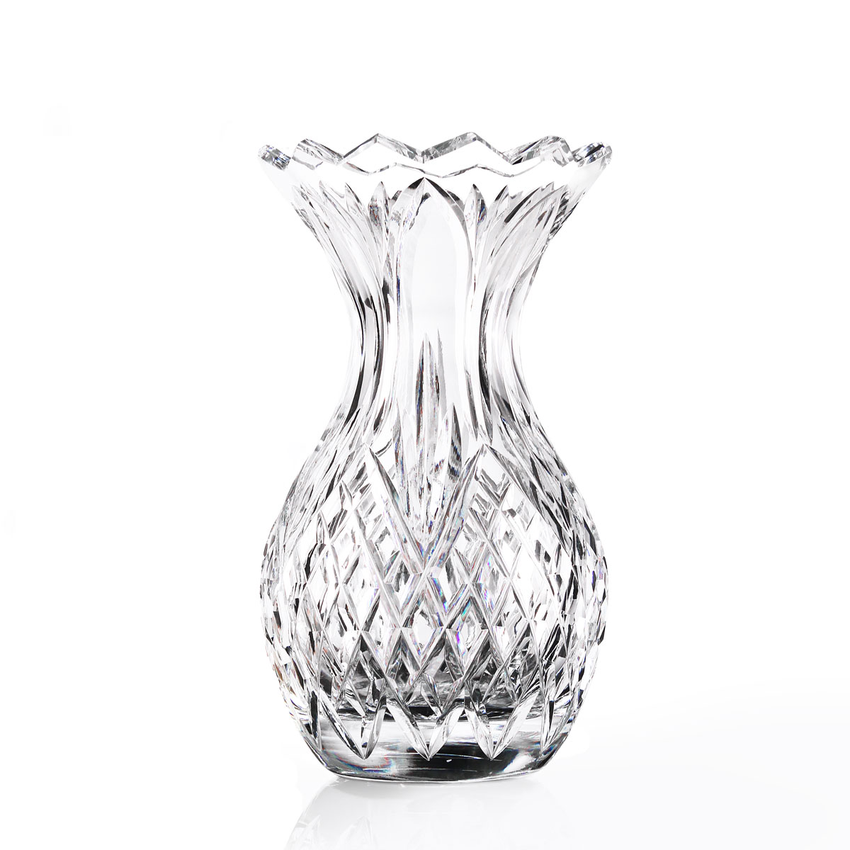 "Cashs Ireland, 8"" Pineapple Crystal Vase"
