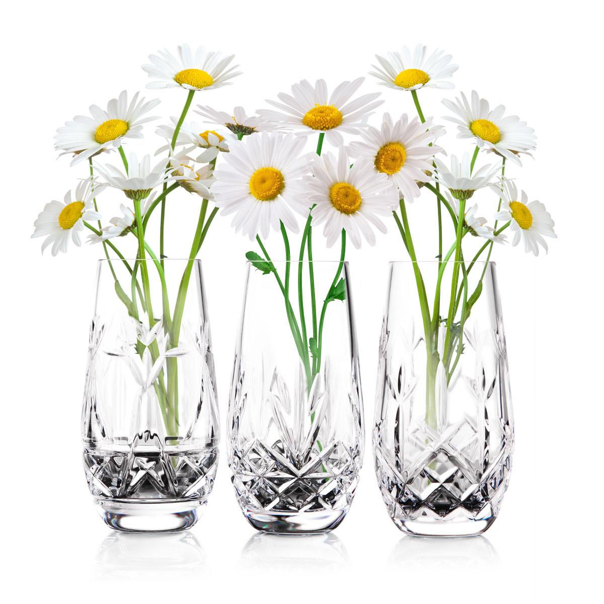 "Cashs Ireland, The Three Sisters, Set of Three 6"" Vases"