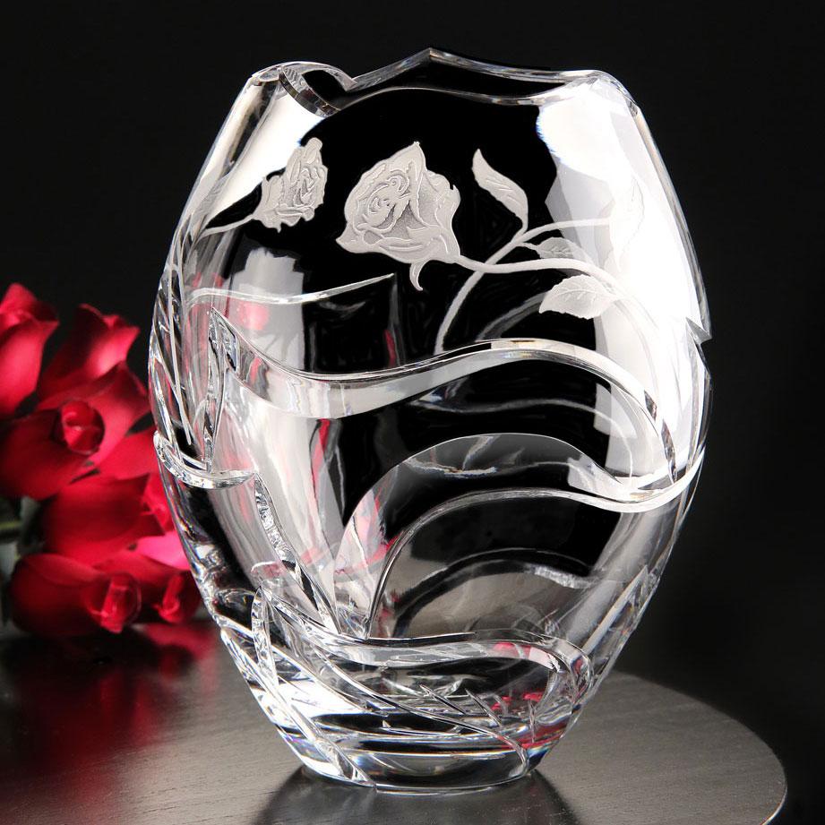 Cashs Ireland, Art Collection Irish Rose Crystal Vase, Limited Edition