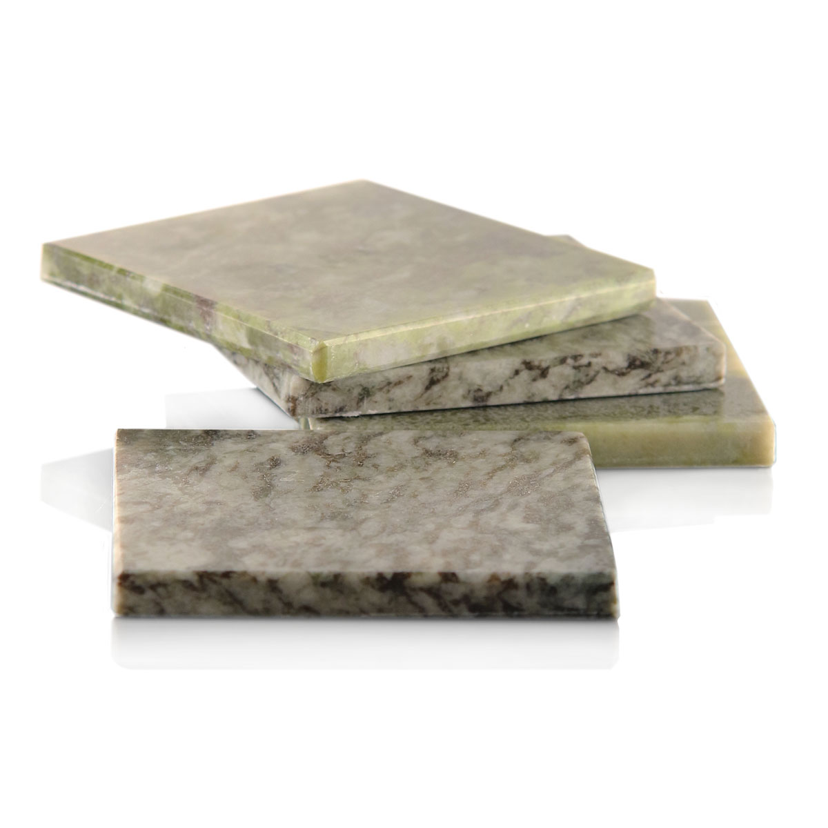 Cashs Ireland, Connemara Marble Square Coasters, Set of Four