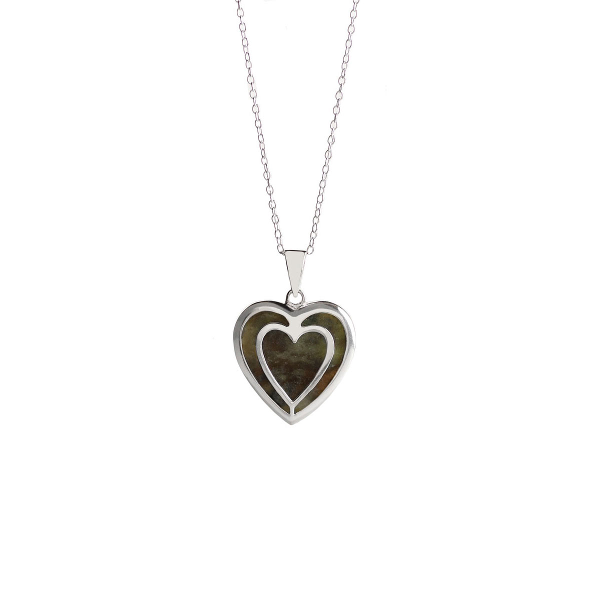Cashs Ireland, Connemara Marble Heart Necklace