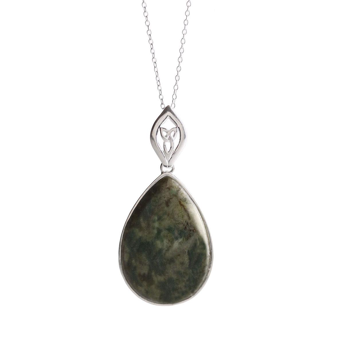 Cashs Ireland, Connemara Marble Trinity Drop Necklace