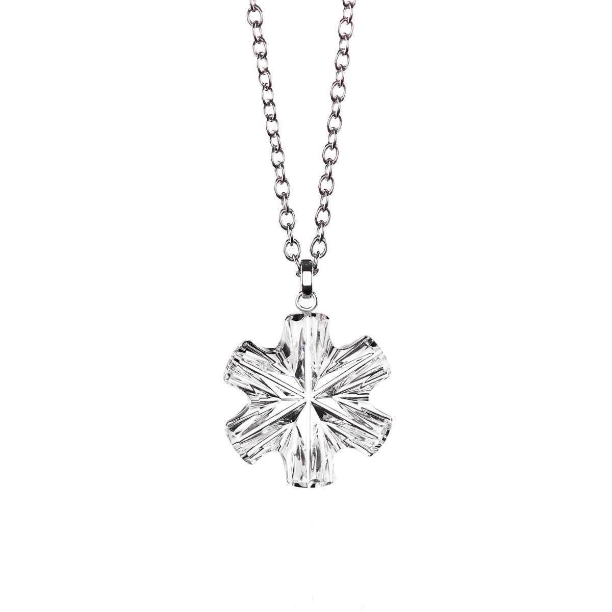 Cashs Ireland, Crystal Snowflake Pendant Necklace, Small
