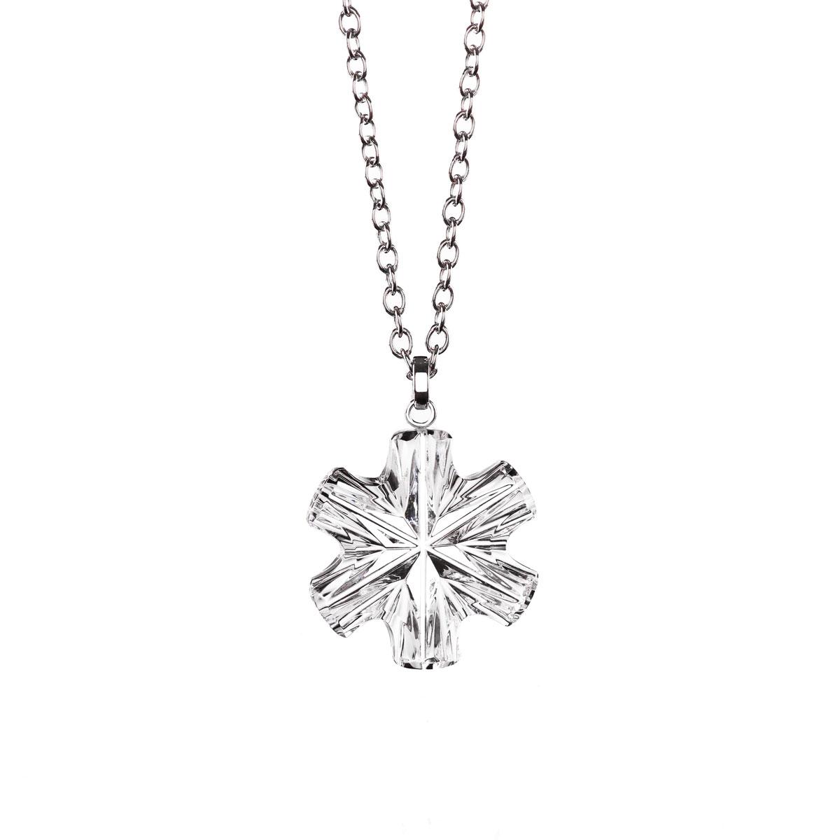 Cashs Ireland, Crystal Snowflake Pendant Necklace, Small