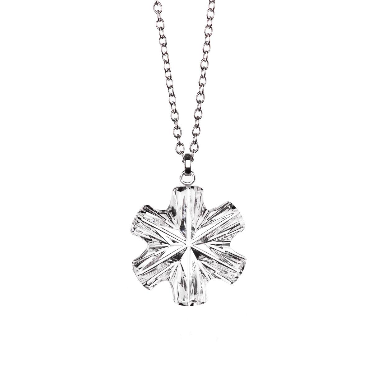 Cashs Ireland, Crystal Snowflake Pendant Necklace, Medium