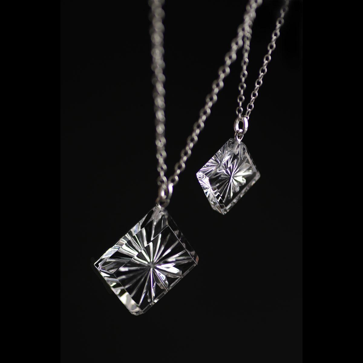 Cashs Ireland, Diamond Newgrange Pendant Crystal Necklace, Large