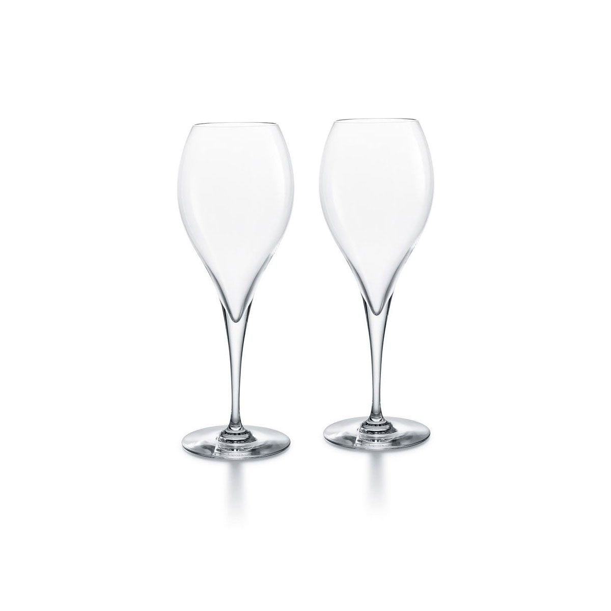 Baccarat Crystal Oenologie Champagne Flute Glasses, Pair