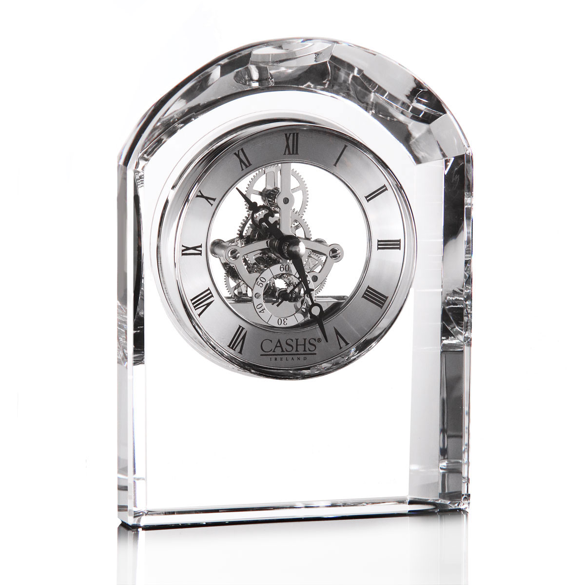 Cashs Ireland, Dome Large Desk Crystal Clock
