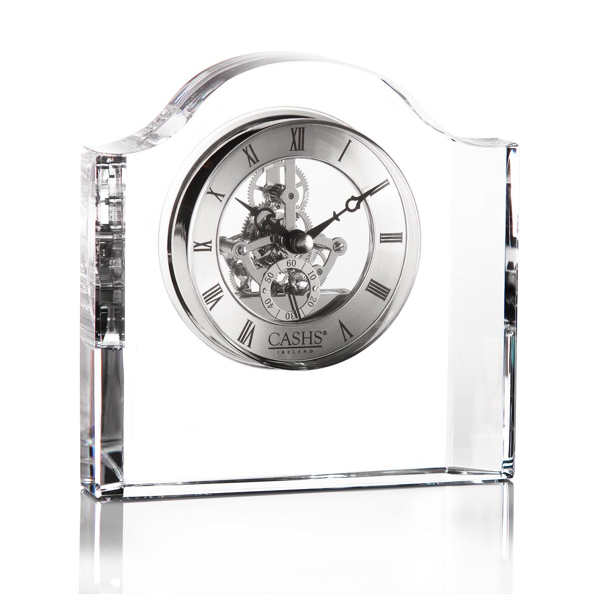 Cashs Ireland, Manach Large Desk Crystal Clock
