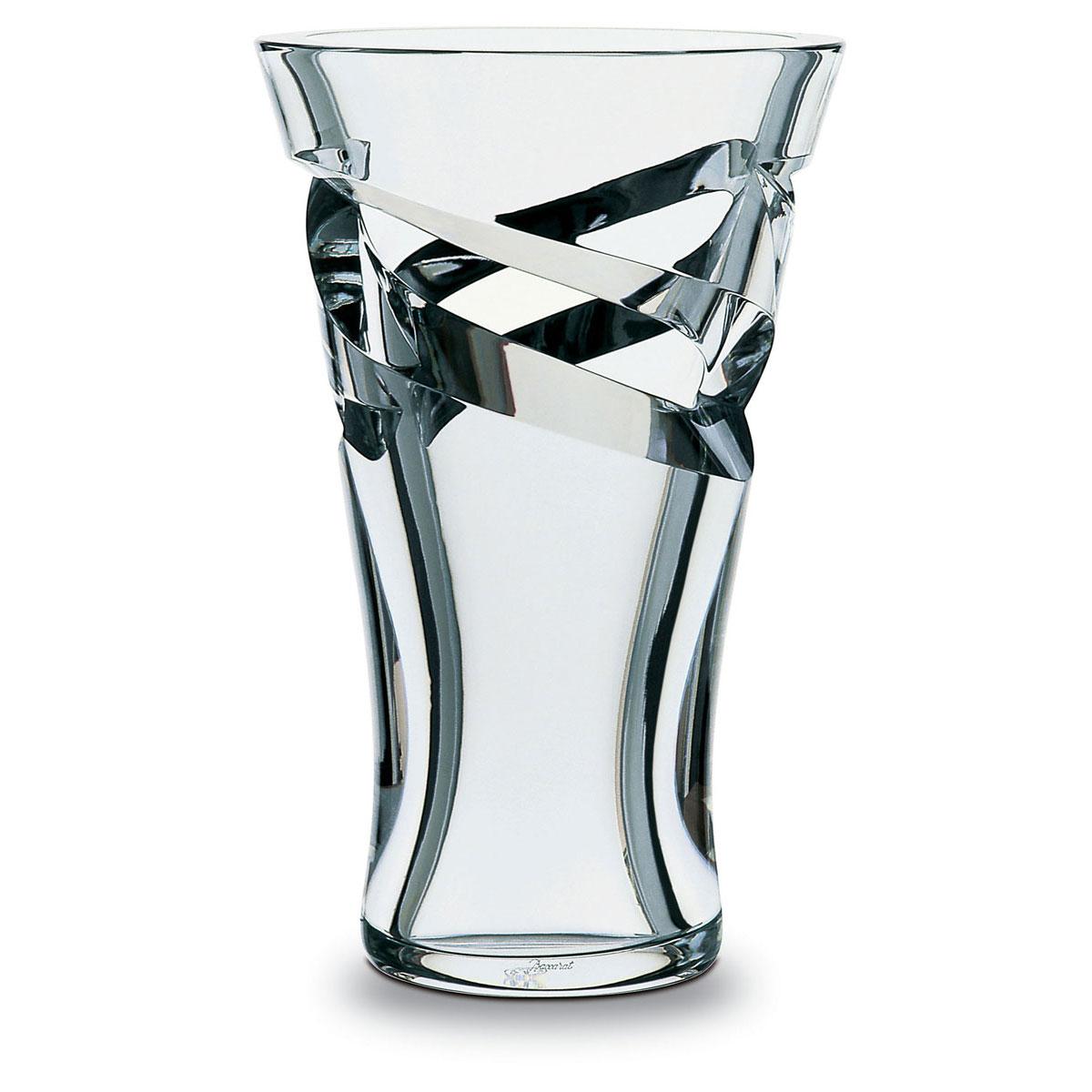 """Baccarat Crystal, Tornado Large Crystal Vase 14 7/8"""""""